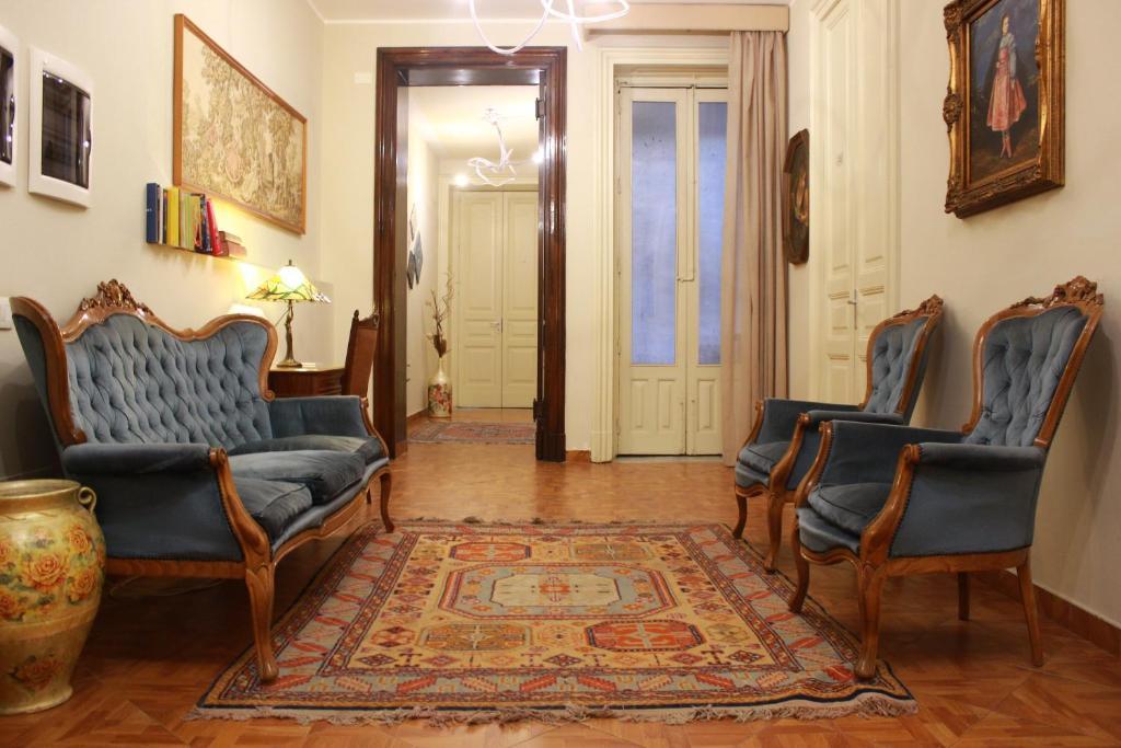 Area soggiorno di Umberto House Catania