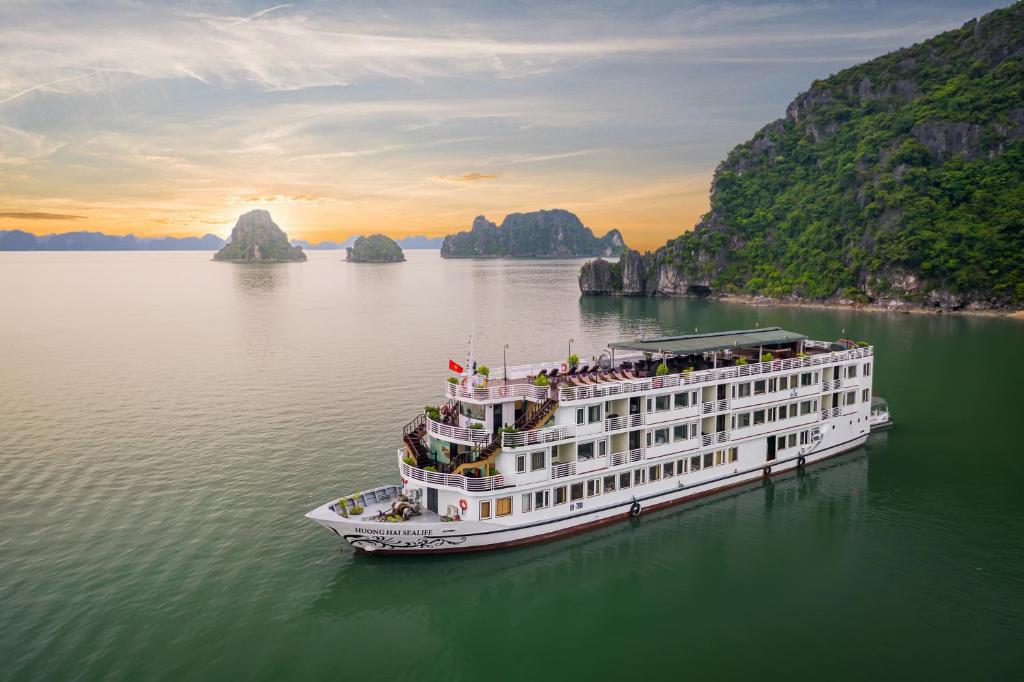 A bird's-eye view of Huong Hai Sealife Cruise