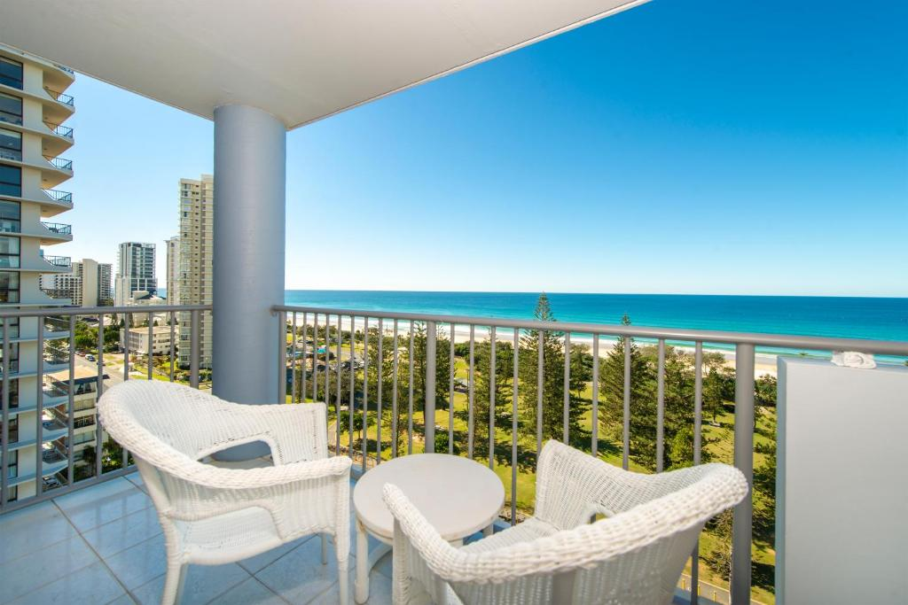 A balcony or terrace at Sandpiper Broadbeach