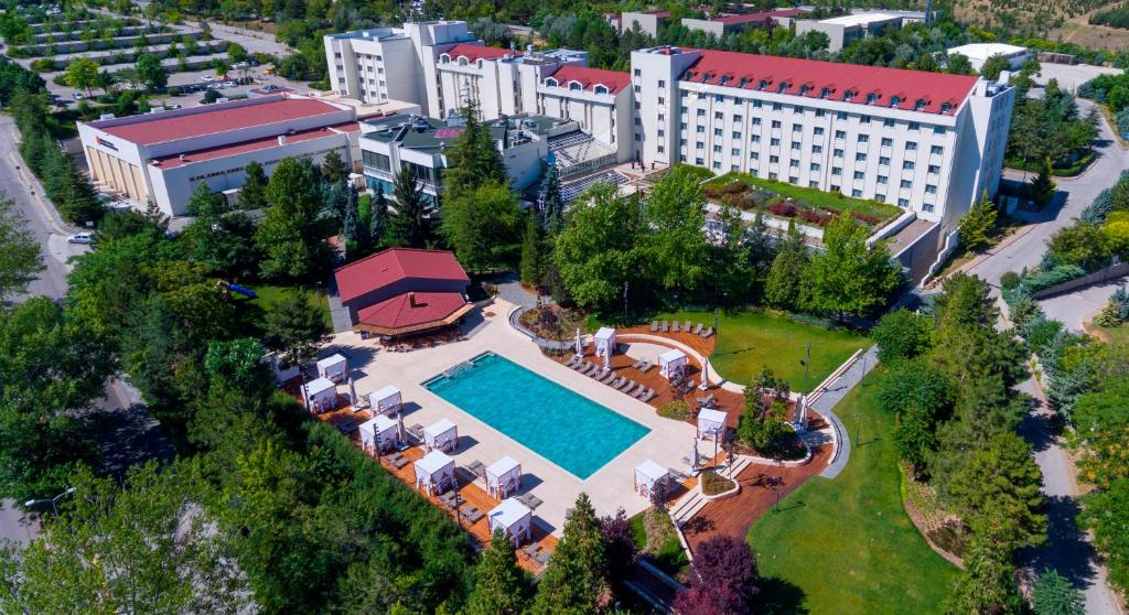 A bird's-eye view of Bilkent Hotel and Conference Center