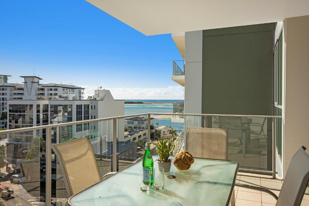 A balcony or terrace at m1 Resort