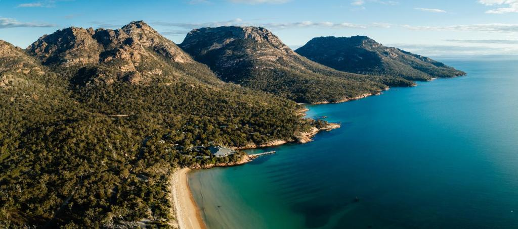 A bird's-eye view of Freycinet Lodge