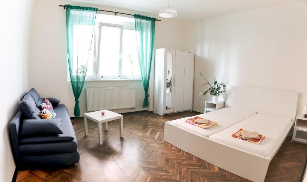 Гостиная зона в Stupkova 2 Apartmán