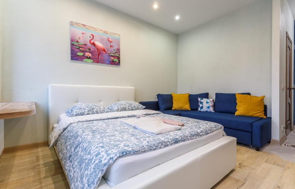 Кровать или кровати в номере FortEstate Саморы Машела 2А