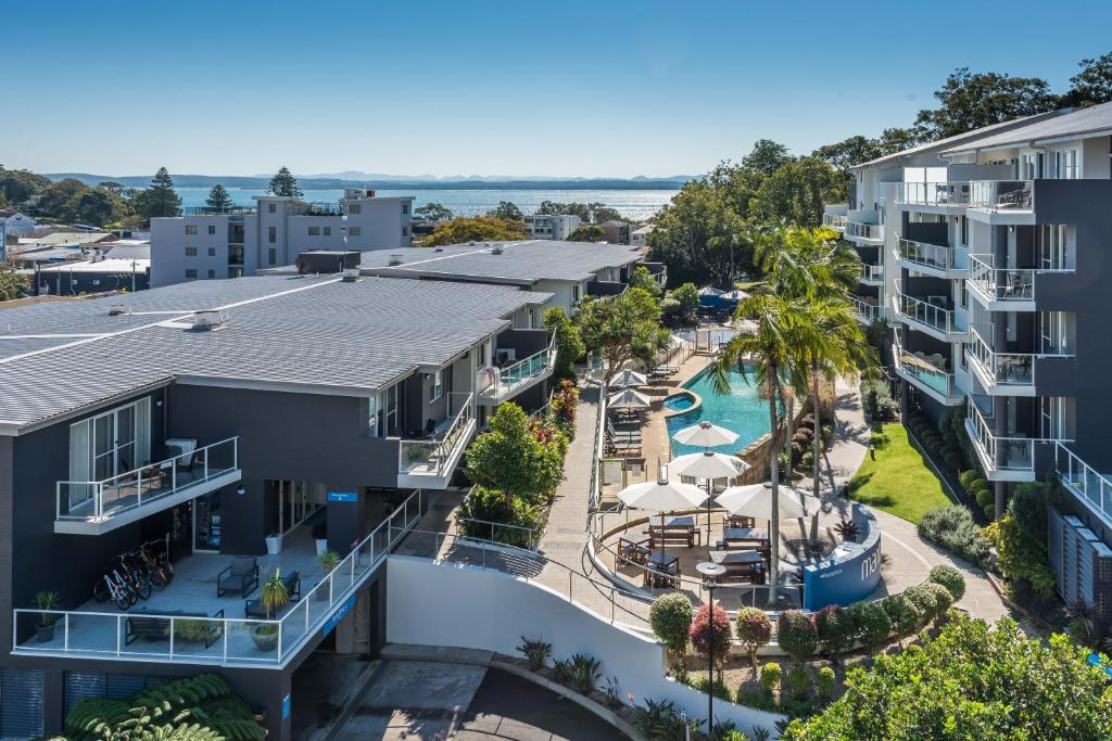 A view of the pool at Mantra Nelson Bay or nearby