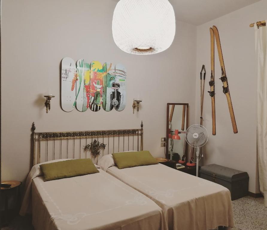 Letto o letti in una camera di Albergo La Felicina - Mugello