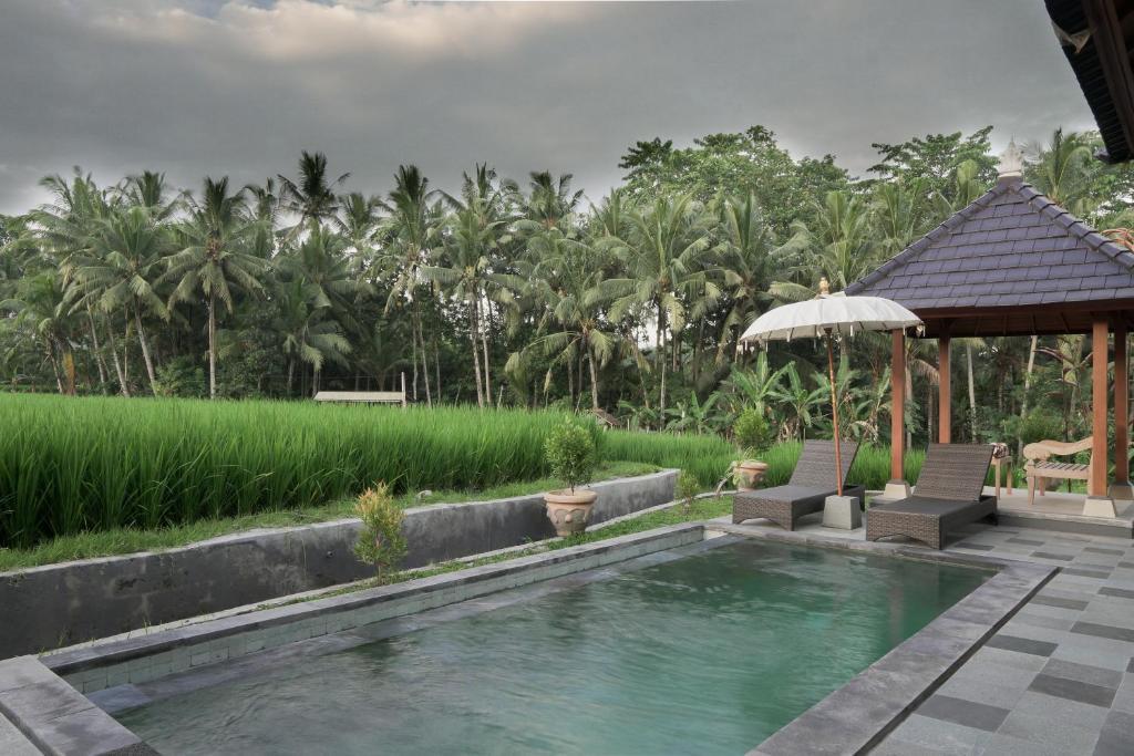 The swimming pool at or near Masia Villa Ubud