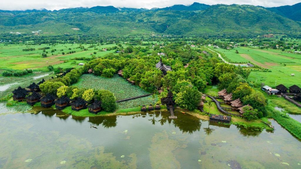 A bird's-eye view of Inle Resort