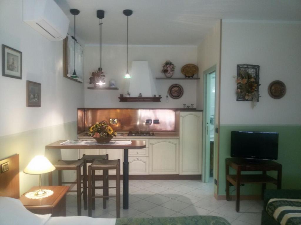 Cucina o angolo cottura di Hotel Bruna