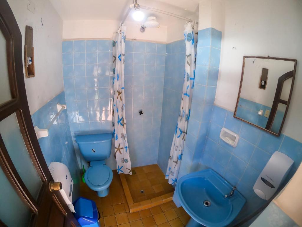 A bathroom at Hostal Condor B&B