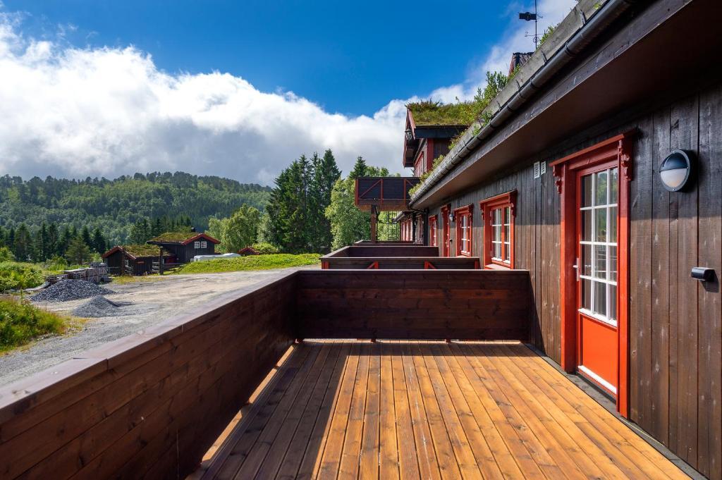 A balcony or terrace at Lysgården på Eventyrlige Skaret, Molde