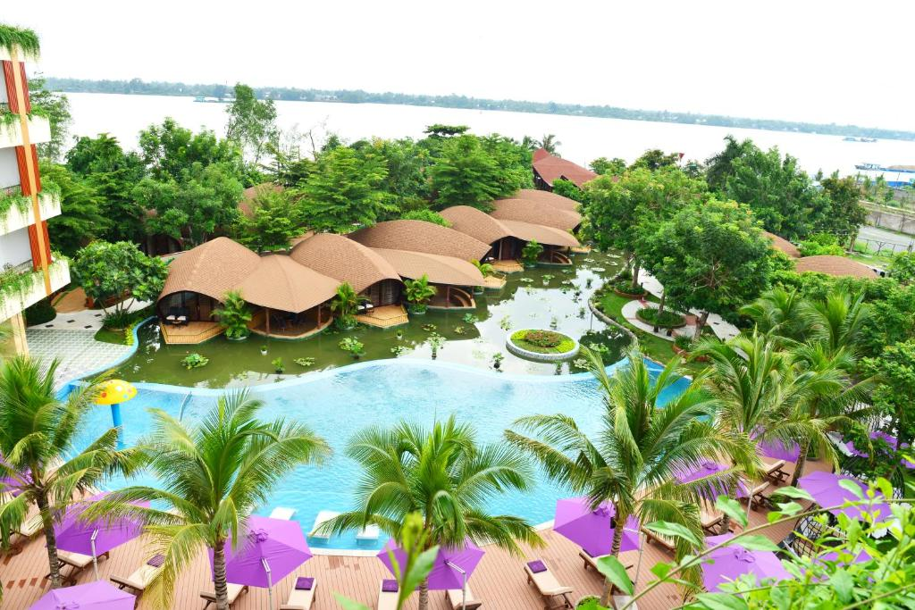 A bird's-eye view of Con Khuong Resort Can Tho