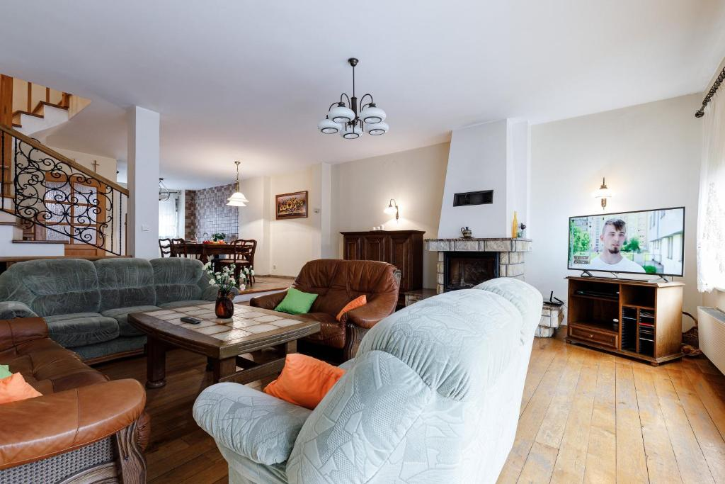 A seating area at Apartament na doby