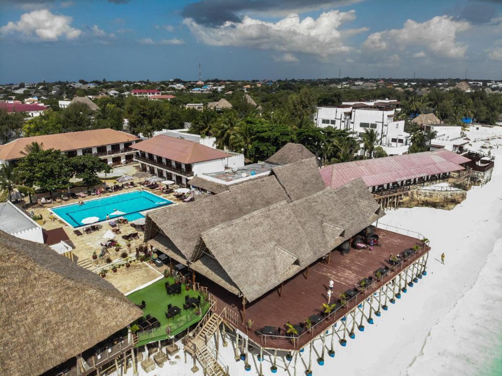 Een luchtfoto van Amaan Beach Bungalows