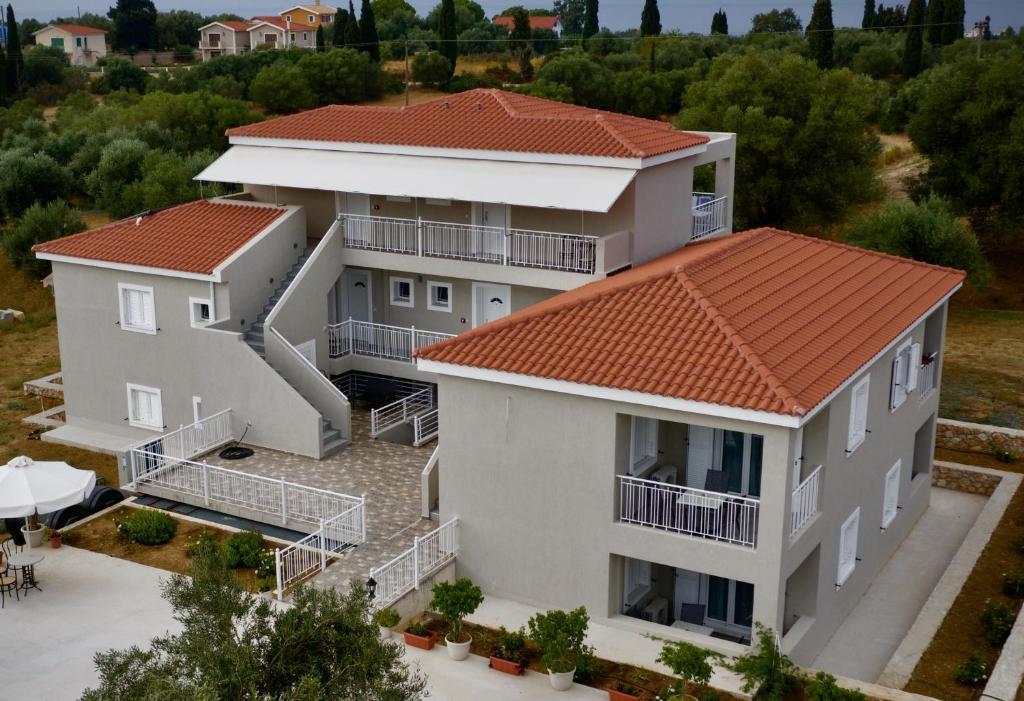 Άποψη από ψηλά του Casa De Rosa Apartments & Studios