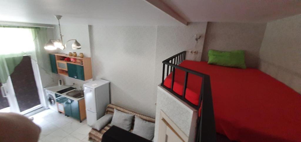 Двухъярусная кровать или двухъярусные кровати в номере Апартаменты