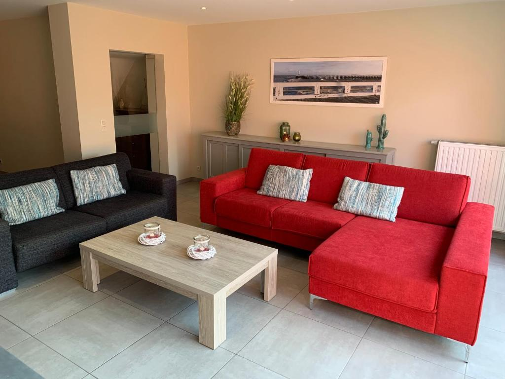 A seating area at Holiday Home Weekendhuisje