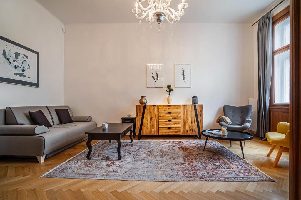 Area soggiorno di Maiselova Apartment - Karolina
