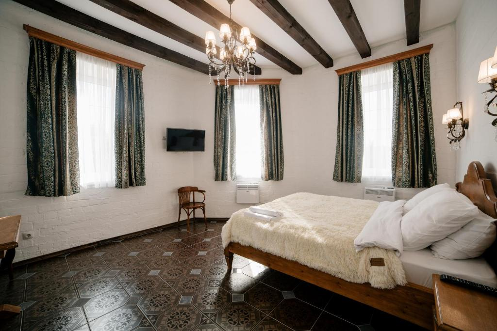 """A bed or beds in a room at """"Villa Pia"""""""