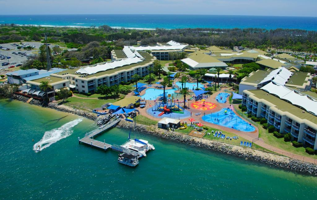 A bird's-eye view of Sea World Resort & Water Park