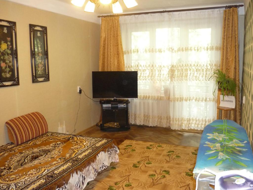 A television and/or entertainment center at Apartment on Lensoveta
