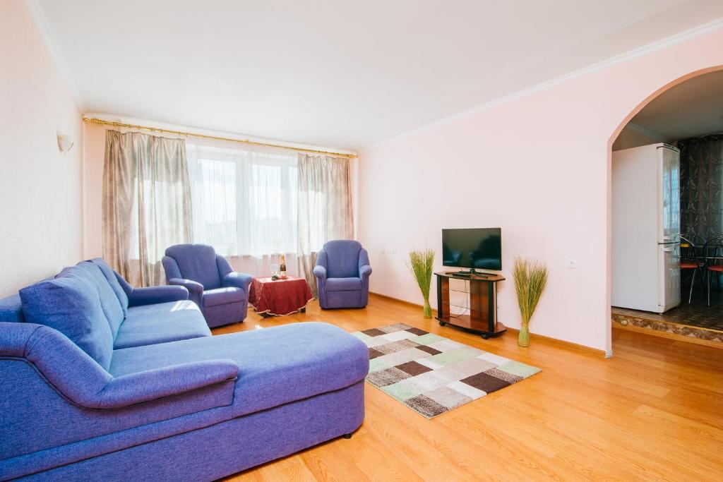 A seating area at Apartment on Nemiga