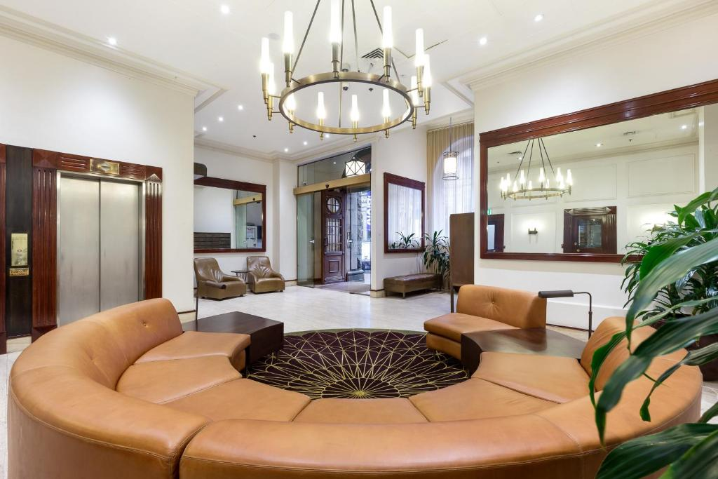 The lobby or reception area at Sydney CBD Studio Apartment 503BRG