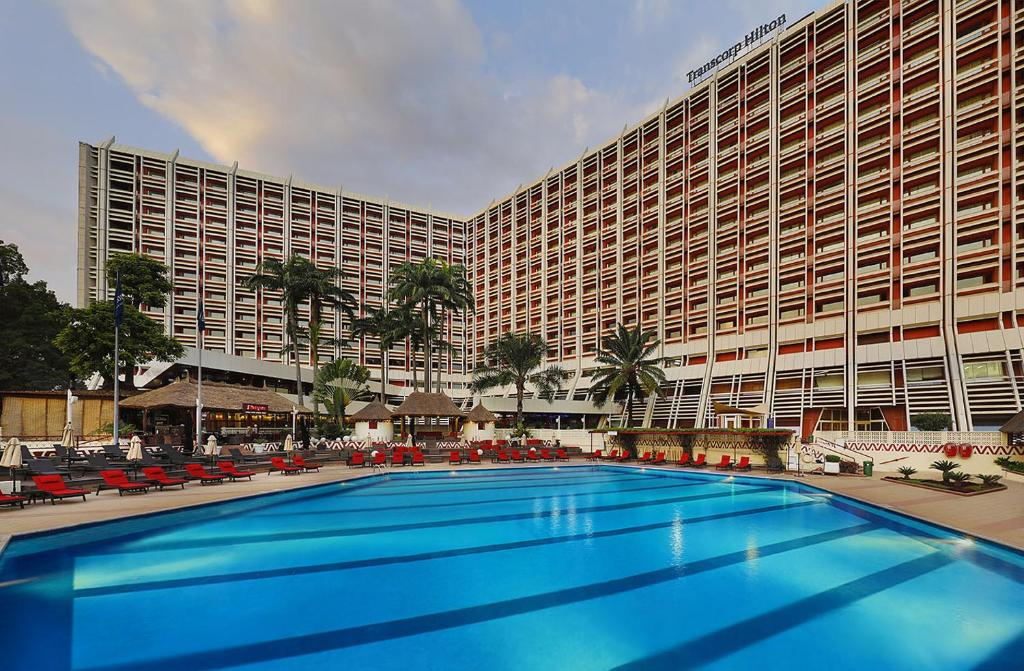 The swimming pool at or close to Transcorp Hilton Abuja
