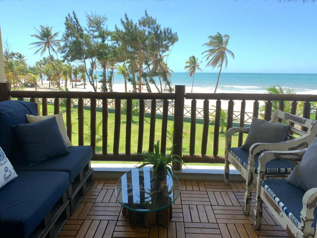A balcony or terrace at VG SUN Cumbuco Vista Mar