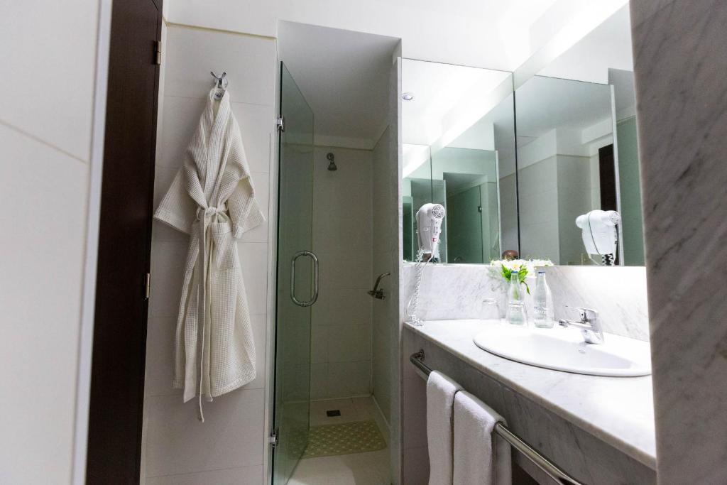 Um banheiro em 474 Buenos Aires Hotel