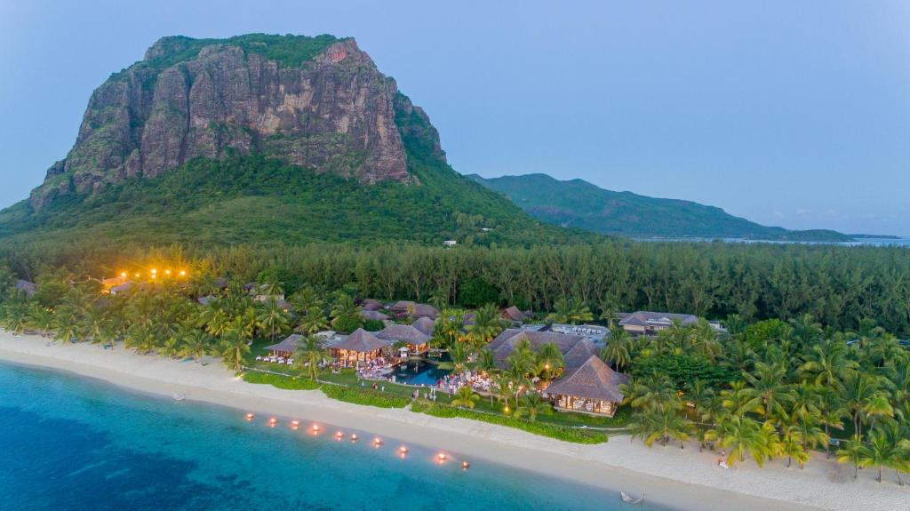 A bird's-eye view of LUX* Le Morne Resort