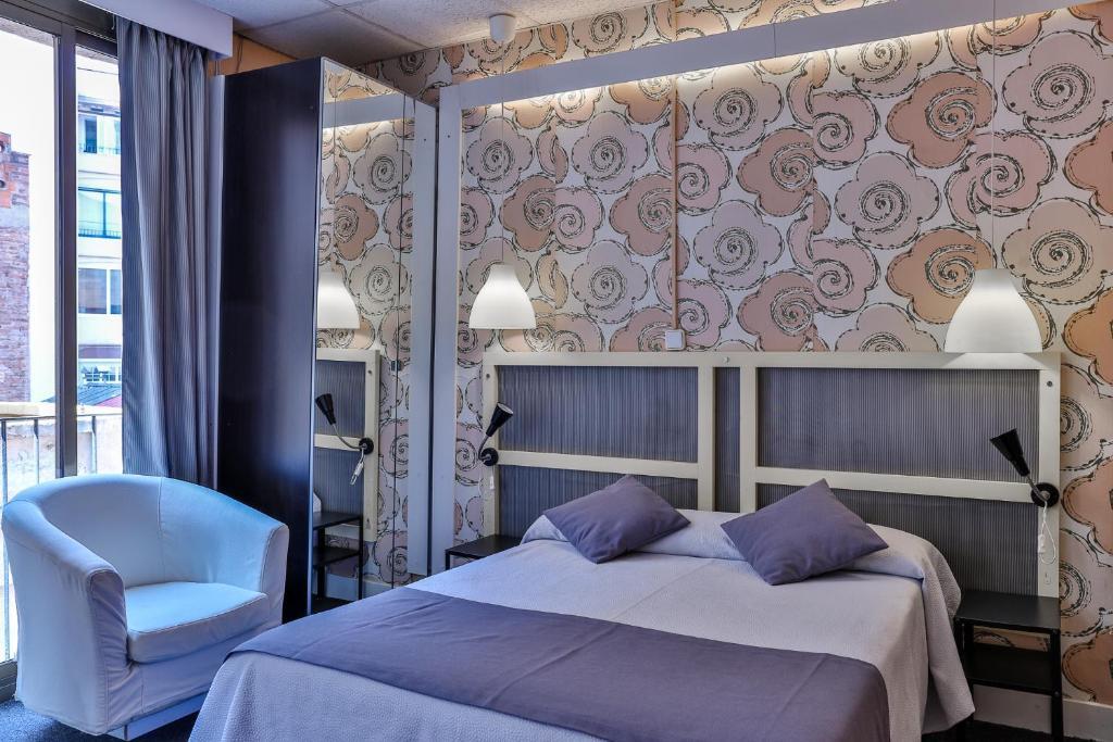 Letto o letti in una camera di Hotel Palermo