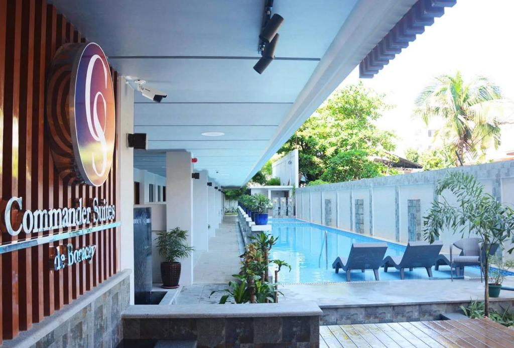 The swimming pool at or near Commander Suites de Boracay