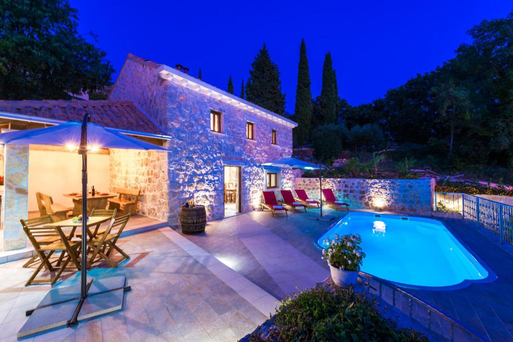 The swimming pool at or close to Holiday Home Marina - private swimming pool
