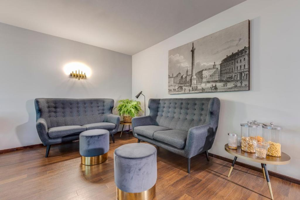 Ein Sitzbereich in der Unterkunft Mathildenhöhe - Das Hotel