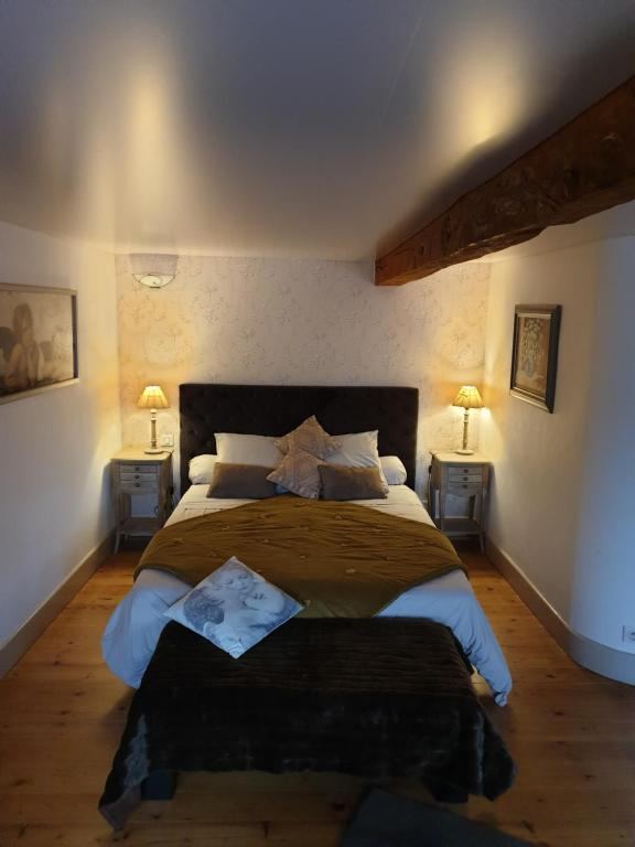 Un ou plusieurs lits dans un hébergement de l'établissement Au Nid de la Madeleine