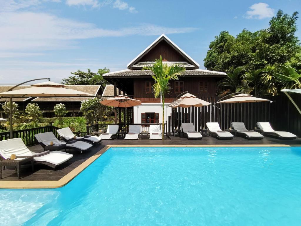 The swimming pool at or near Sanctuary Hotel Luang Prabang