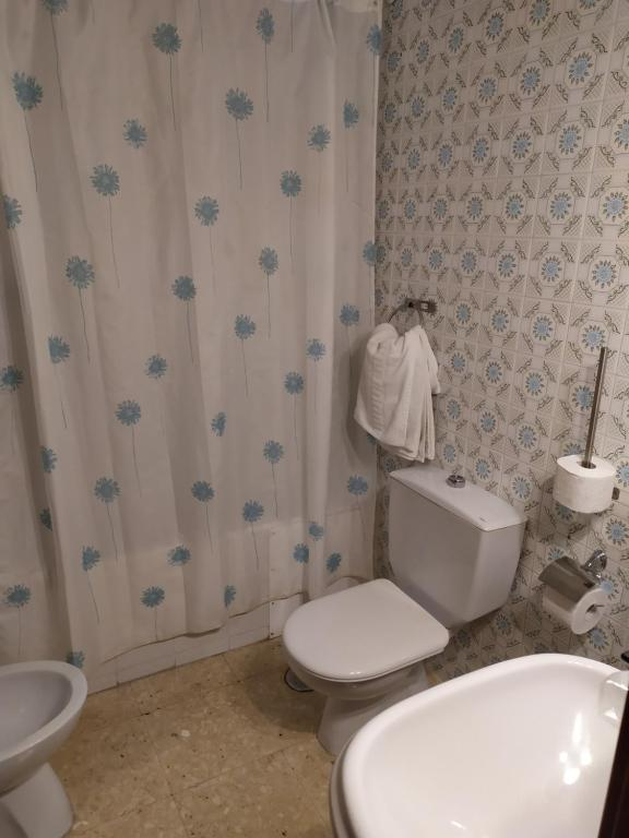A bathroom at Hospedería Lucano