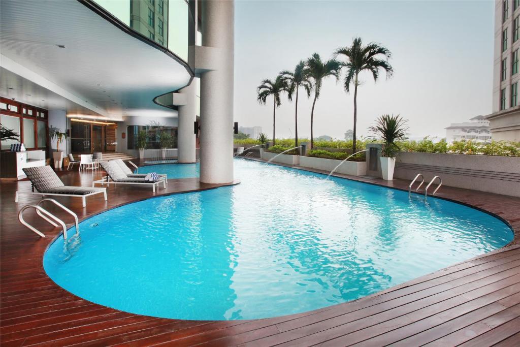 The swimming pool at or near Dorsett Kuala Lumpur