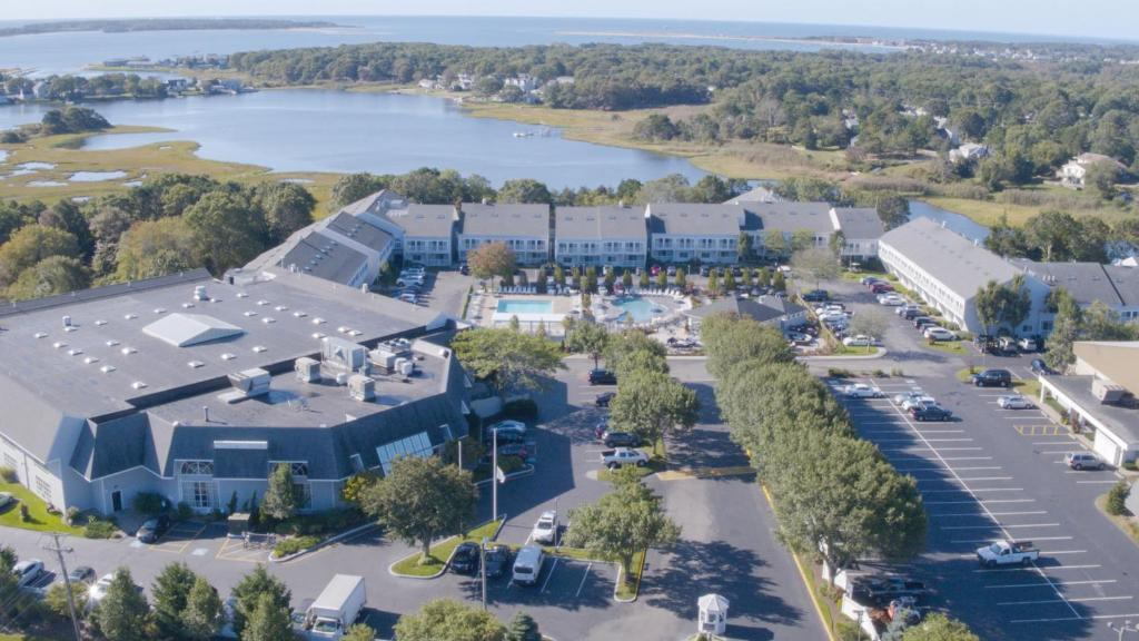 A bird's-eye view of The Cove at Yarmouth, a VRI resort