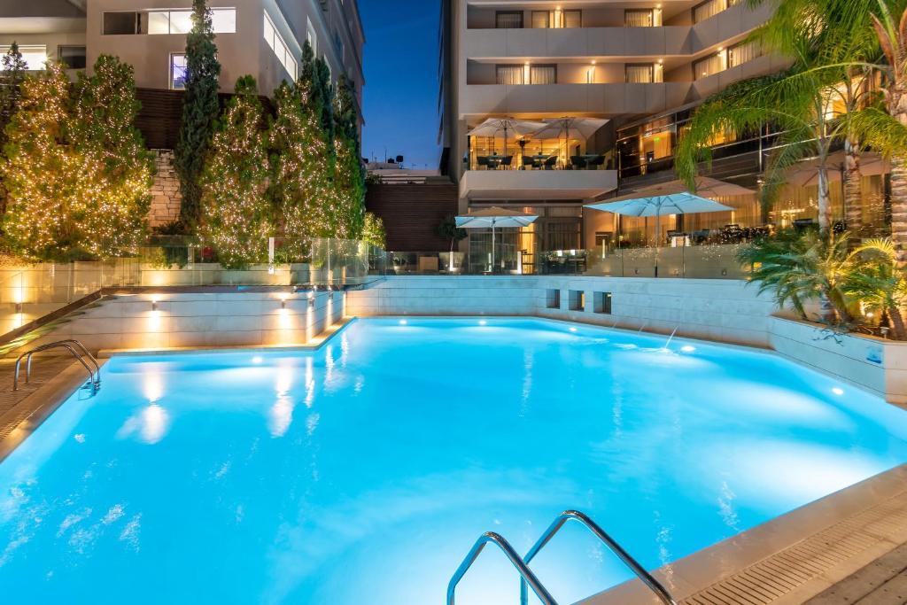 The swimming pool at or near Galaxy Iraklio Hotel
