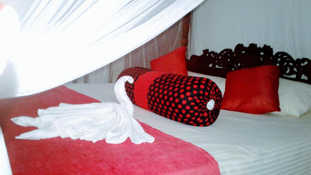 Nasareth Villa Unawatunaにあるベッド