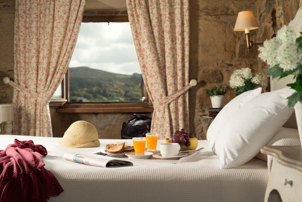 Opciones de desayuno disponibles en A Casa da Torre Branca