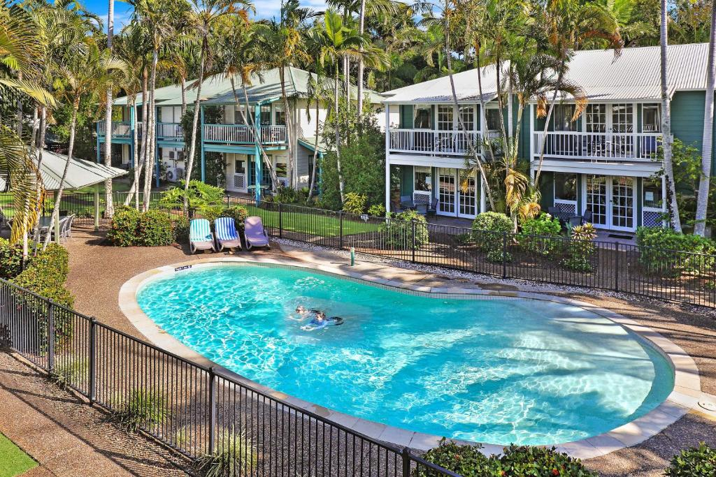 The swimming pool at or near Coral Beach Noosa Resort