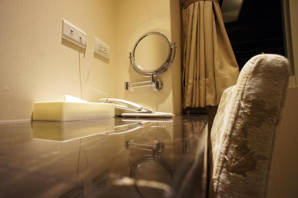 A bathroom at Fupin Hotel
