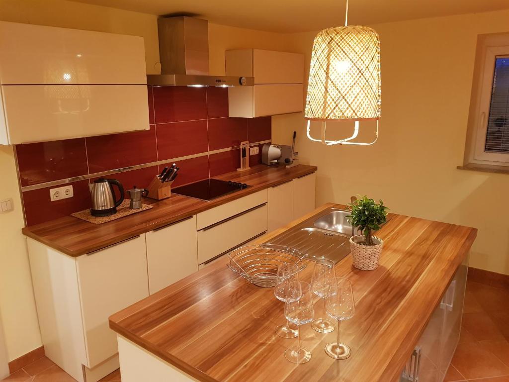 Kuhinja oz. manjša kuhinja v nastanitvi Apartment Sotočje