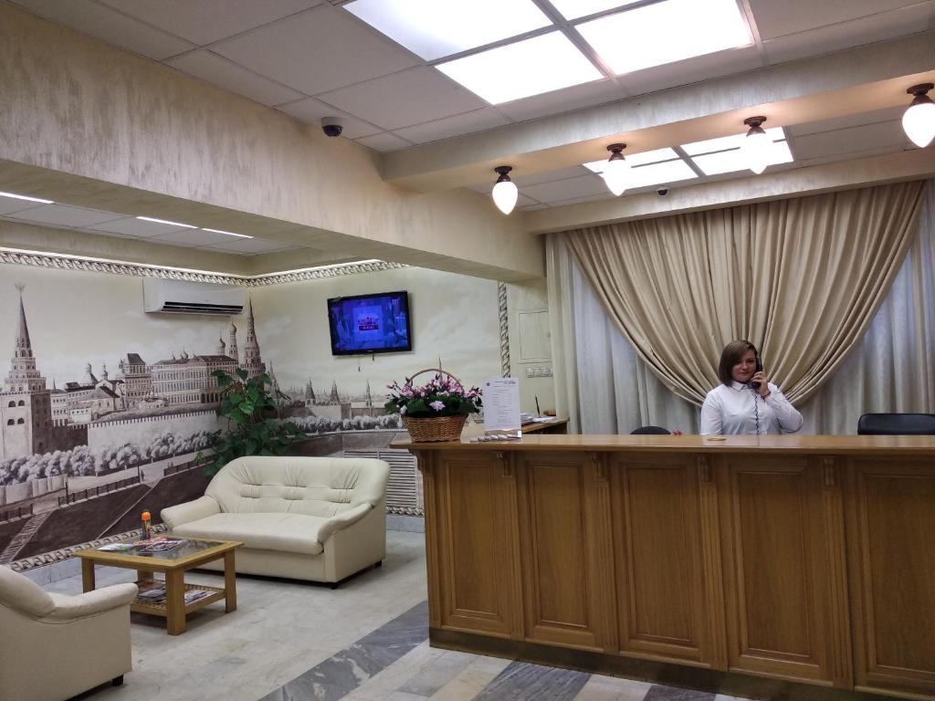 The lobby or reception area at Derzhavniy Hotel