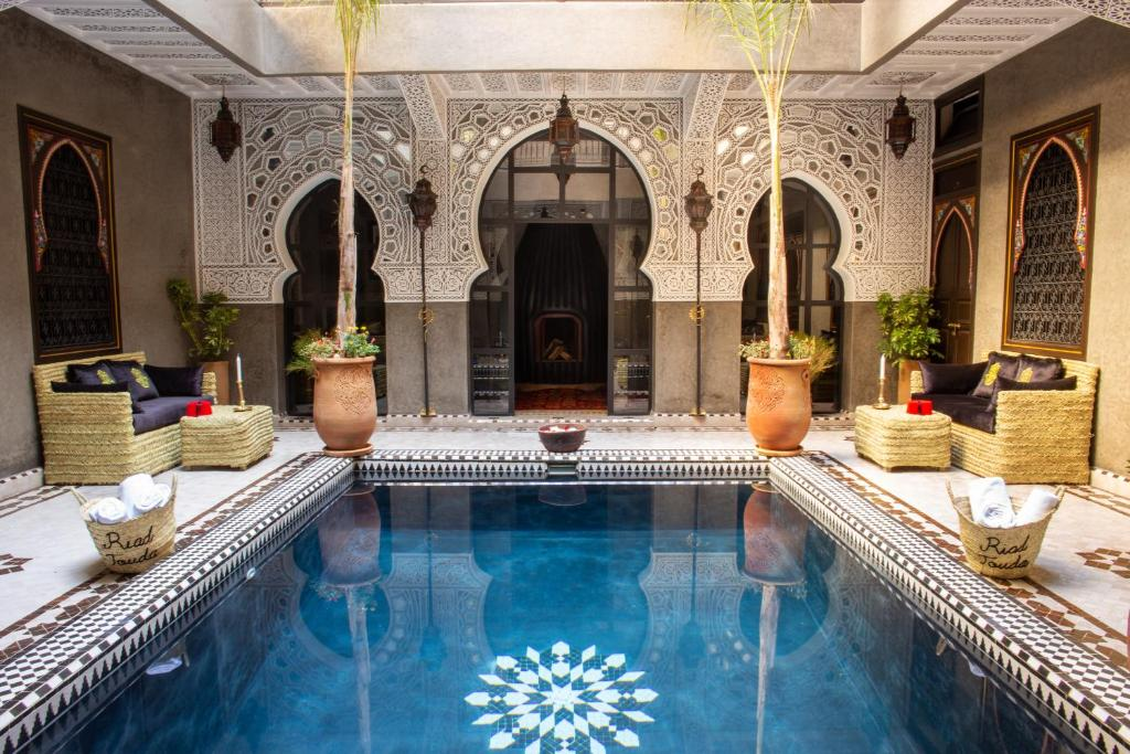The swimming pool at or near Riad Touda