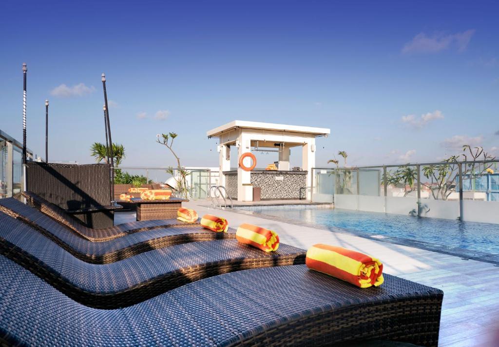 The swimming pool at or near Zia Hotel Kuta