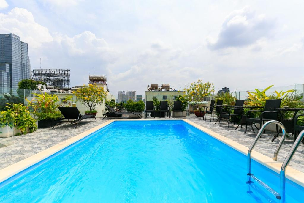The swimming pool at or near Joviale Hotel
